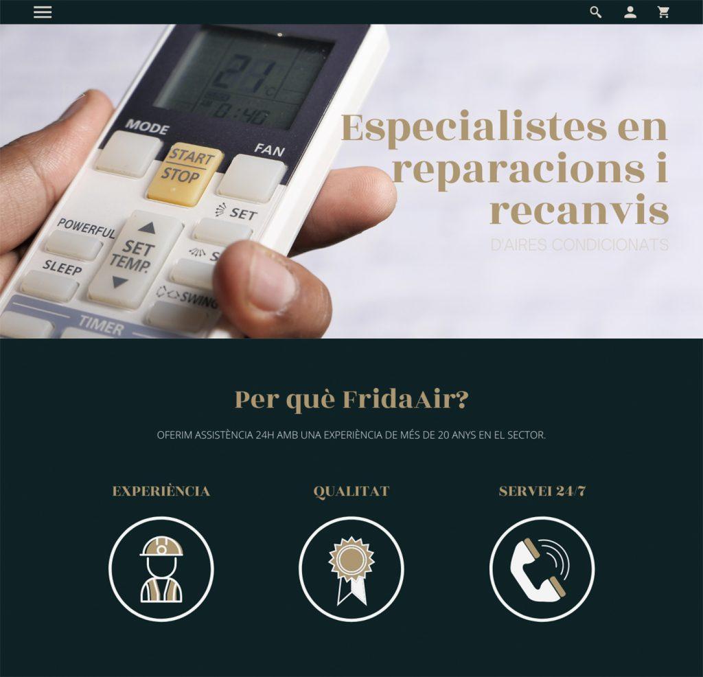 Exemple correcte de banner en pàgina principal a l'hora d'atreure al teu tràfic fred. Agència de marketing digital i disseny gràfic a Les Borges Blanques, Lleida.